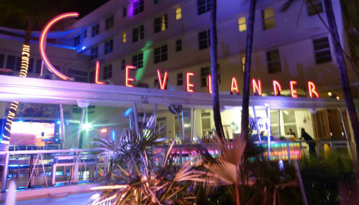 The Clevelander pool party, Miami Beach