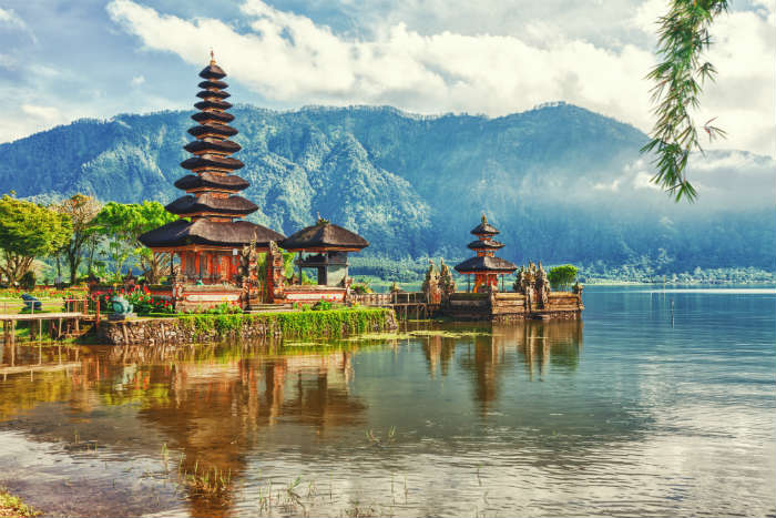 Temple by a lake, Bali