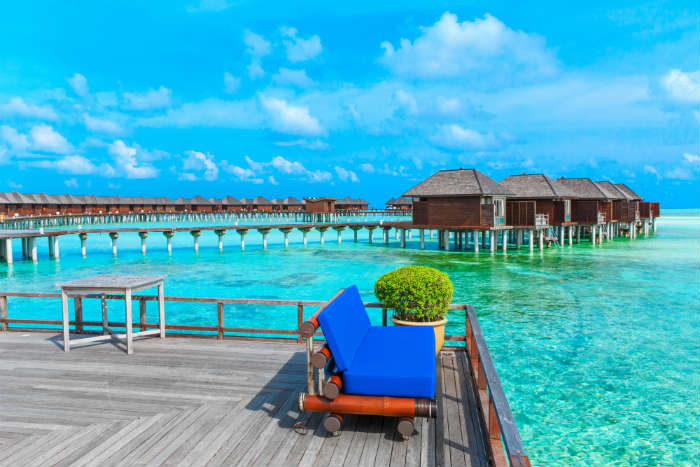 Ocean villas on stilts, Maldives